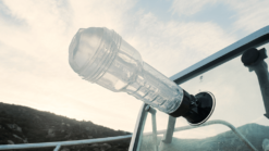 Fleshlight shower mount on car windscreen