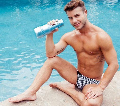 Allen King Sitting by Pool with fleshjack